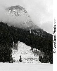 冬, 湖, エメラルド