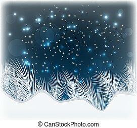 冬, 美しい, 壁紙, ベクトル, イラスト