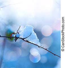 冬, 芸術, design., 雪