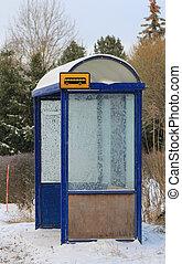 冬, 避難所, バス, 霜, 止まれ, 支部