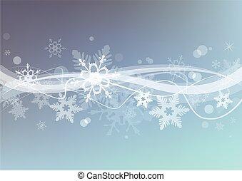冬, 雪, バックグラウンド。