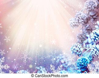 冬, 雪, 背景, 年, 新しい, 休日, クリスマス