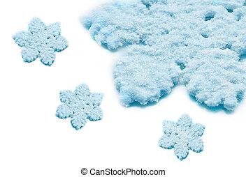 冬, 雪, background.snowflakes