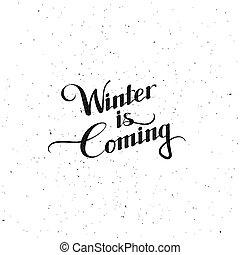 冬, coming., イラスト, ベクトル