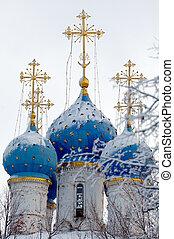 冬, kazan, モスクワ, kolomenskoye, 教会, 私達の, 女性