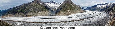 冰川, 全景, aletsch
