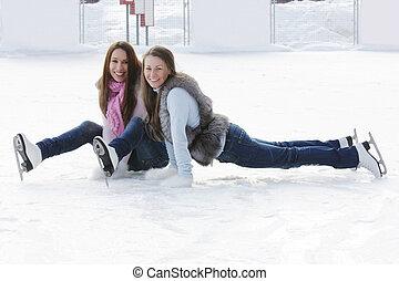 冰溜冰场, 妇女