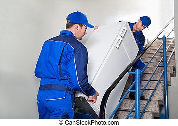 冰箱, 步驟, 提議人, 運載