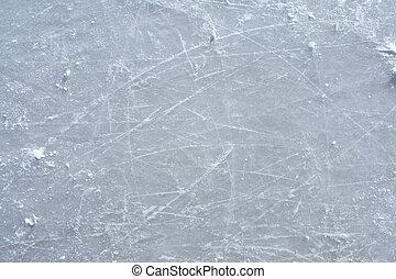 冰鞋, 标记, 在上, the, 表面, 在中, 一, 户外, 冰溜冰场