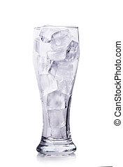 冰, 在, a, 玻璃