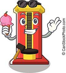 冰, 机器, 游戏, 锤子, 卡通漫画, 奶油