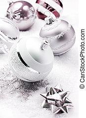 冷ややか, 銀, 装飾, クリスマス
