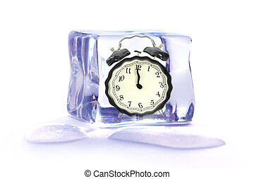 凍らせられた, 時間