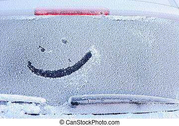 凍らせられた, 車 窓