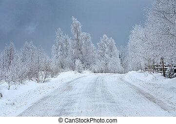 凍りつくほどである, 冬の景色