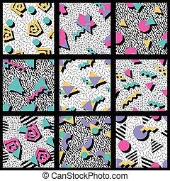 几何的模式, 震動, 集合