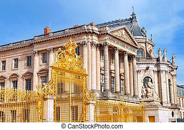 凡尔赛, castle., 著名, 皇家的教堂, ., paris.