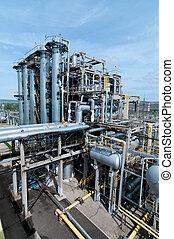 処理, ガス, 工場