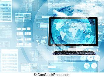 処理, データ, インターネット