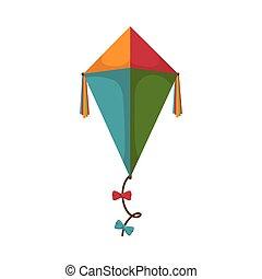 凧, おもちゃ, 子供