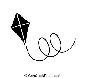 凧, ベクトル, イラスト