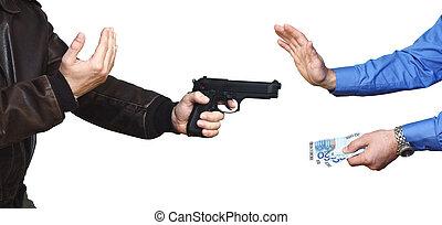 凶器持ち強盗, 背景