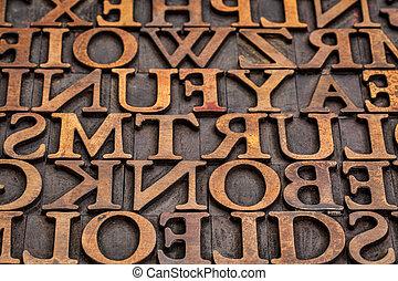凸版印刷, 木, タイプ, 抽象的