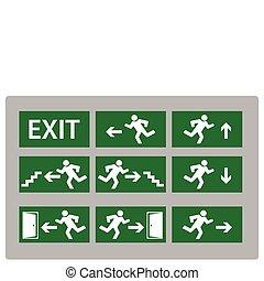 出口の 印
