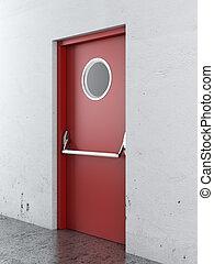 出口, ドア, 緊急事態