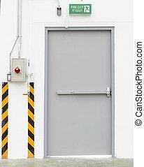 出口, 空, 門, 關閉, 緊急事件