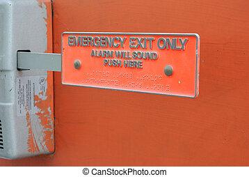 出口, 緊急事件