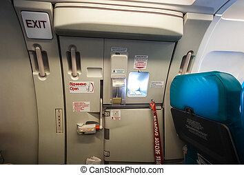 出口, 飛機, 門, 緊急事件