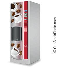 出售, 咖啡, 是, a, 机器, 矢量