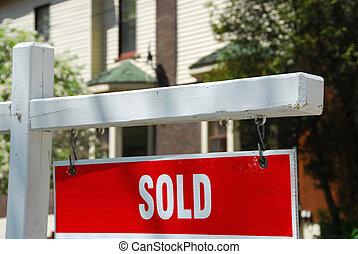 出售, 房子, 签署
