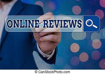 出版しなさい, オンラインで, テキスト, reviews., 手書き, フィードバック, 意味, 評価, プロダクト, 概念, website., 顧客