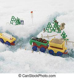 出産, おもちゃのトラック