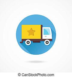 出産, 貨物, ベクトル, トラック, アイコン