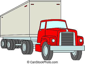 出産, 貨物, ベクトル, トラック, /