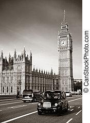 出租汽車, 以及, 大本鐘