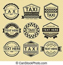 出租汽車, 標籤, 葡萄酒, 風格