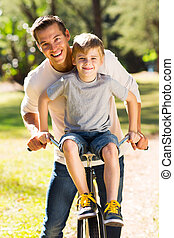 出費, 父, 一緒に, 息子, 時間, 品質, 幸せ