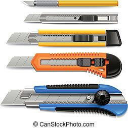 刀具, 圖象, set.