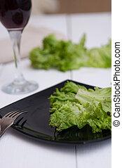 刀叉餐具, 上, a, 白色, 桌子