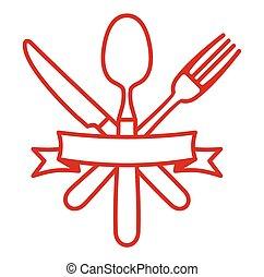 刀叉餐具, -, 刀, 叉子, 以及, 勺