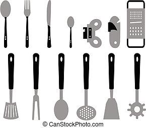 刀叉餐具, 厨房