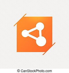 分け前, シンボル。, 印, リンク, icon., 技術