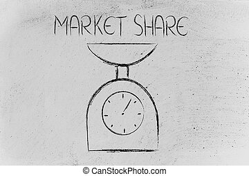 分け前, ファインド, 測定, バランス, あなたの, 市場