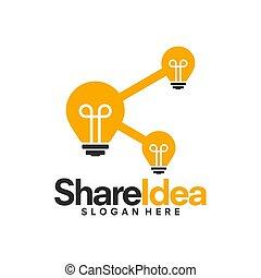 分け前, 考え, ベクトル, デザイン, ロゴ