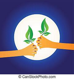 分享, 綠色
