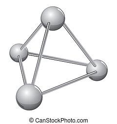 分子, 単純である, 銀